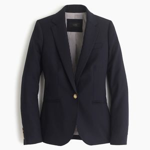 J. Crew Petite Campbell Blazer in Wool Flannel 10P